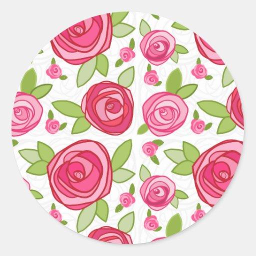 Pegatina del sello del sobre de los rosas de las