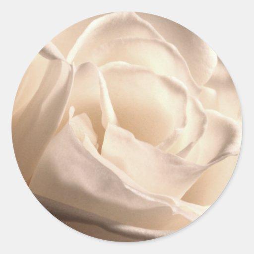 Pegatina del sello del sobre del boda del rosa bla