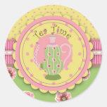 Pegatina del servicio de té