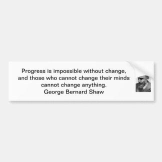 Pegatina del Shaw-Parachoque de George Bernard Etiqueta De Parachoque