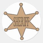 Pegatina del sheriff