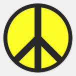 Pegatina del signo de la paz