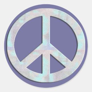 Pegatina del signo de la paz de los azules