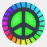 Pegatina del signo de la paz del arco iris