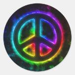 Pegatina del signo de la paz del arco iris que bri