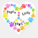 ¡pegatina del signo de la paz del corazón!