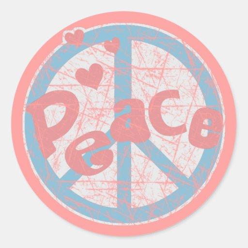 Pegatina del signo de la paz del vintage