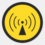 pegatina del símbolo amonestador del rf
