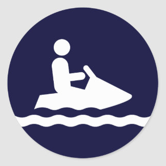 Pegatina del símbolo de Jetskiing