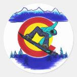 Pegatina del símbolo de la bandera de Colorado del