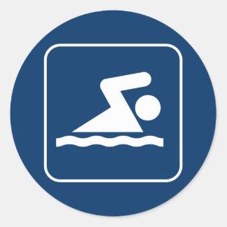 Pegatina del símbolo de la nadada