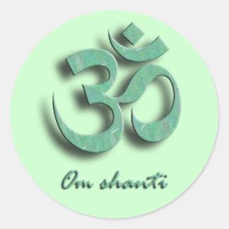 Pegatina del símbolo de OM Shanti