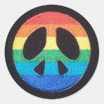 Pegatina del símbolo de paz