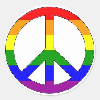 Pegatina del símbolo de paz del arco iris
