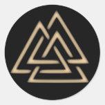 Pegatina del símbolo de Valknut