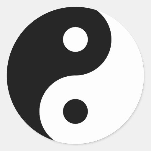 Pegatina del símbolo de Yin Yang