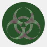 Pegatina del símbolo del Biohazard del zombi