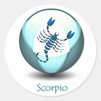 Pegatina del símbolo del escorpión
