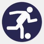 Pegatina del símbolo del fútbol del fútbol