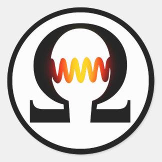 Pegatina del símbolo del ohmio