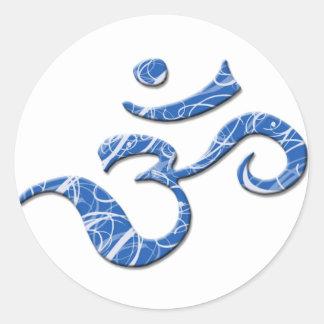 Pegatina del símbolo del ohmio en azul