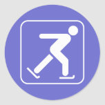 Pegatina del símbolo del patinaje de hielo
