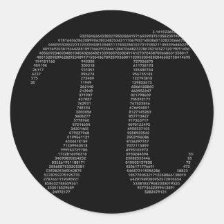 Pegatina del símbolo del pi