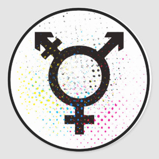 pegatina del símbolo del transexual
