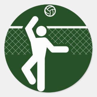 Pegatina del símbolo del voleibol