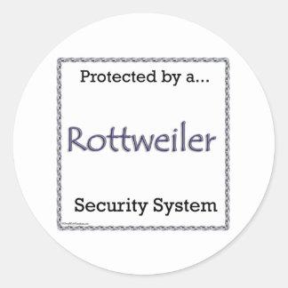 Pegatina del sistema de seguridad de Rottweiler