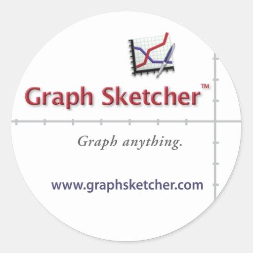 Pegatina del Sketcher del gráfico
