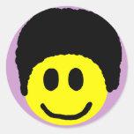Pegatina del smiley del Afro