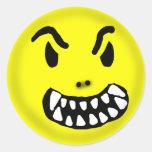 Pegatina del smiley del demonio
