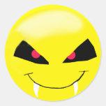 Pegatina del smiley del vampiro