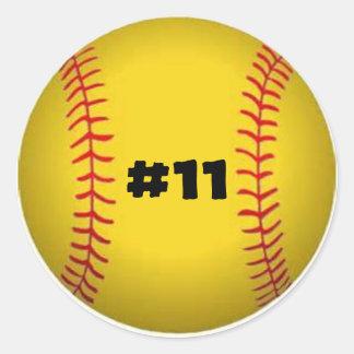 Pegatina del softball