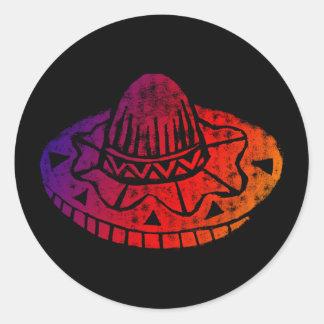 Pegatina del sombrero de la fiesta de Cinco De