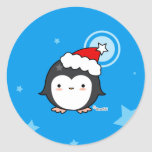Pegatina del soplo del pingüino