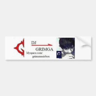 Pegatina del Spamming de DJ Grimga Etiqueta De Parachoque