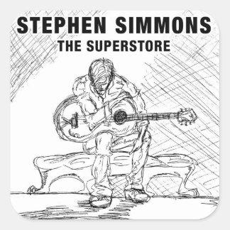 Pegatina del Superstore de Stephen Simmons