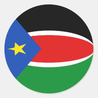 Pegatina del sur de la bandera de Sudán Fisheye