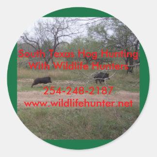 Pegatina del sur de la caza del cerdo de Tejas