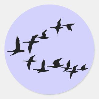 Pegatina del sur de los gansos del vuelo