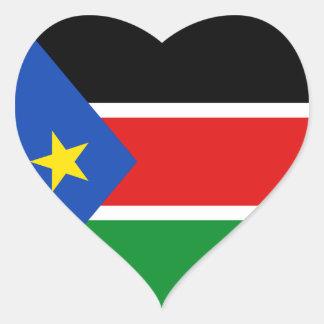 Pegatina del sur del corazón de la bandera de Sudá