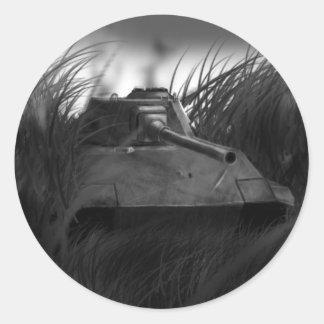 ¡Pegatina del tanque! Pegatina Redonda