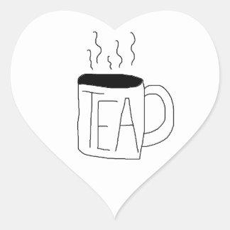 Pegatina del té