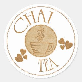 Pegatina del té de Chai