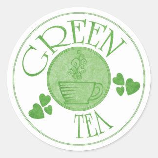 Pegatina del té verde