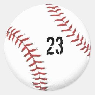 Pegatina del tema del béisbol
