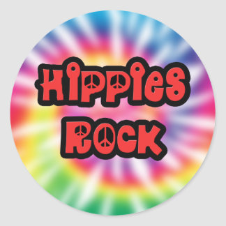 Pegatina del teñido anudado de la roca de los hipp