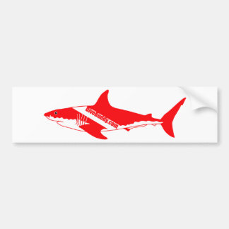 pegatina del tiburón de DiveBuddy.com Etiqueta De Parachoque